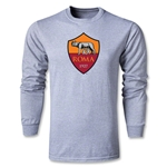 AS Roma Crest LS T-Shirt (Gray)