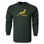 South Africa Springboks Bok LS T-Shirt (Dark Green)