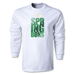 South Africa Springboks Stack Logo LS T-Shirt (Dark Green)