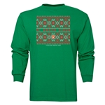FC Santa Claus Christmas Sweater Men's LS T-Shirt (Green)