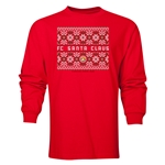 FC Santa Claus Christmas Sweater Men's LS T-Shirt (Red)
