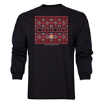 FC Santa Claus Christmas Sweater Men's LS T-Shirt (Black)