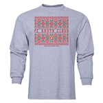 FC Santa Claus Christmas Sweater Men's LS T-Shirt (Grey)