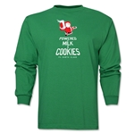 FC Santa Claus Milk and Cookies Men's LS T-Shirt (Green)