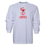 FC Santa Claus Milk and Cookies Men's LS T-Shirt (White)