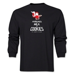 FC Santa Claus Milk and Cookies Men's LS T-Shirt (Black)