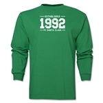FC Santa Claus Established 1992 Men's LS T-Shirt (Green)