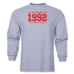 FC Santa Claus Established 1992 Men's LS T-Shirt (Grey)