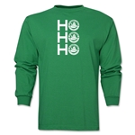 FC Santa Claus Ho, Ho, Ho Men's LS T-Shirt (Green)
