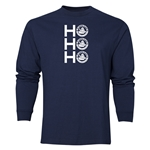 FC Santa Claus Ho, Ho, Ho Men's LS T-Shirt (Navy)