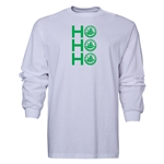 FC Santa Claus Ho, Ho, Ho Men's LS T-Shirt (White)