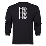 FC Santa Claus Ho, Ho, Ho Men's LS T-Shirt (Black)