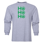 FC Santa Claus Ho, Ho, Ho Men's LS T-Shirt (Grey)