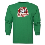 FC Santa Claus Animated Santa Men's LS T-Shirt (Green)