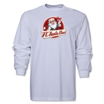 FC Santa Claus Animated Santa Men's LS T-Shirt (White)