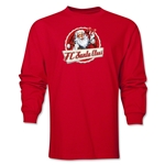 FC Santa Claus Animated Santa Men's LS T-Shirt (Red)
