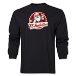 FC Santa Claus Animated Santa Men's LS T-Shirt (Black)