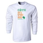 Cote d'Ivoire LS Country T-Shirt (White)