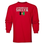 Afghanistan LS Soccer T-Shirt (Red)