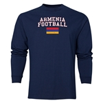 Armenia LS Football T-Shirt (Navy)
