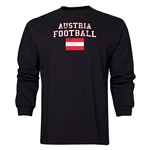 Austria LS Football T-Shirt (Black)