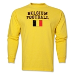 Belgium LS Football T-Shirt (Yellow)
