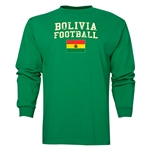 Bolivia LS Football T-Shirt (Green)