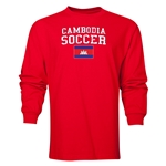 Cambodia LS Soccer T-Shirt (Red)