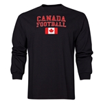 Canada LS Football T-Shirt (Black)