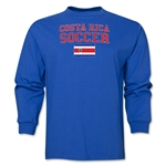 Costa Rica LS Soccer T-Shirt (Royal)