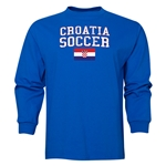 Croatia LS Soccer T-Shirt (Royal)