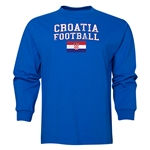 Croatia LS Football T-Shirt (Royal)