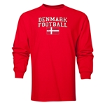 Denmark LS Football T-Shirt (Red)