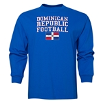 Dominican Republic LS Football T-Shirt (Royal)