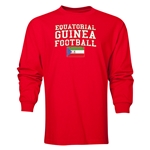 Equatorial Guinea LS Football T-Shirt (Red)