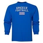Greece LS Football T-Shirt (Royal)