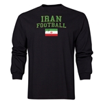 Iran LS Football T-Shirt (Black)