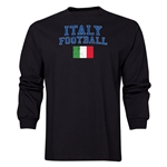 Italy LS Football T-Shirt (Black)