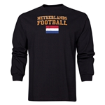 Netherlands LS Football T-Shirt (Black)