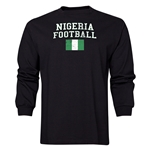 Nigeria LS Football T-Shirt (Black)