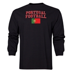 Portugal LS Football T-Shirt (Black)