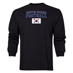 South Korea LS Football T-Shirt (Black)