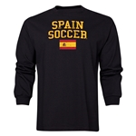 Spain LS Soccer T-Shirt (Black)