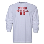 Peru LS Football T-Shirt (White)