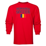 Romania LS Soccer T-Shirt (Red)