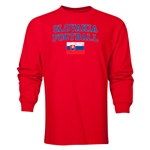 Slovakia LS Football T-Shirt (Red)