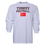 Turkey LS Football T-Shirt (White)