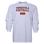 Venezuela LS Football T-Shirt (White)