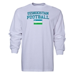 Uzbekistan LS Football T-Shirt (White)