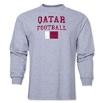 Qatar LS Football T-Shirt (Grey)